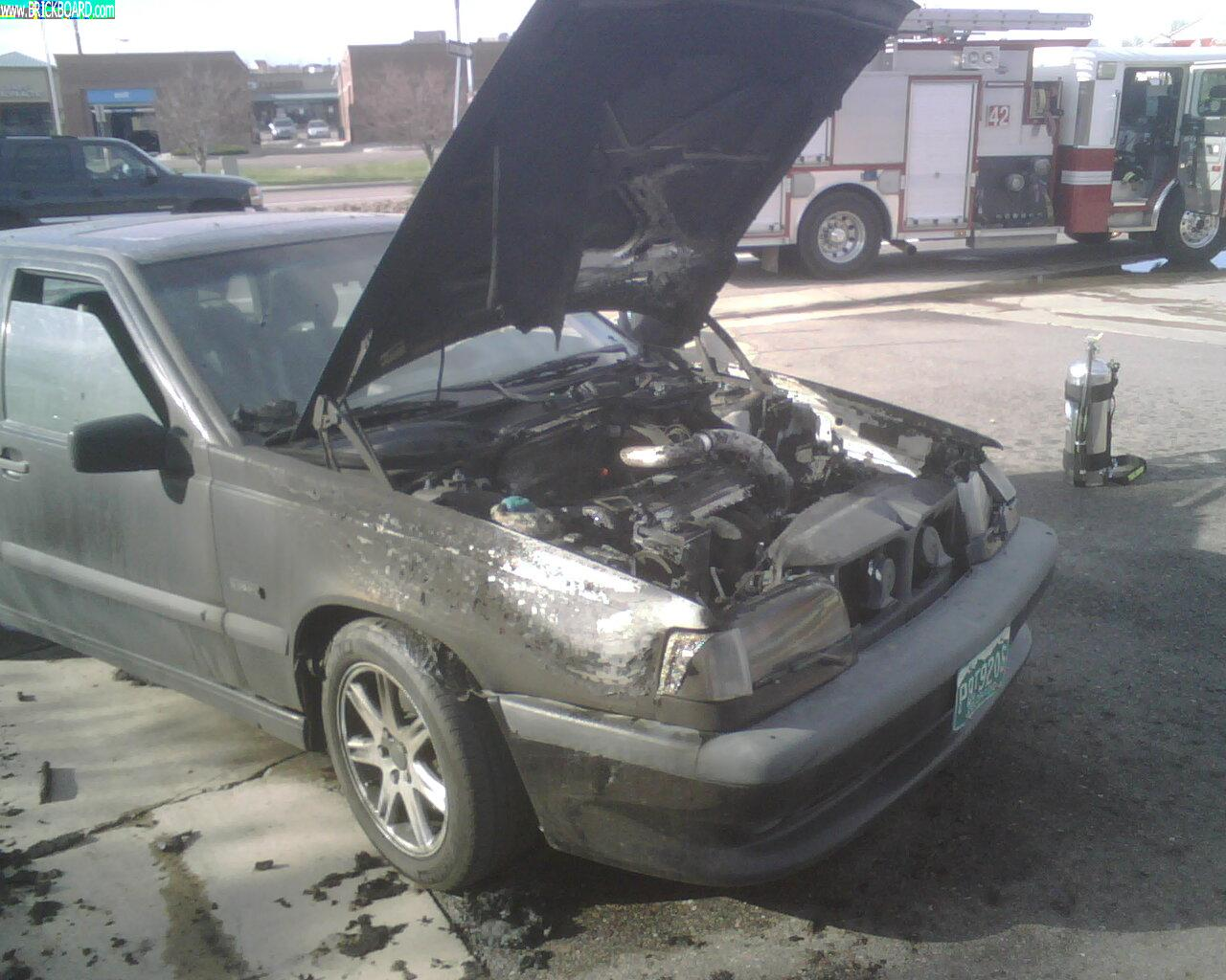 Volvo 850 -- Hopefully this will help someone?  A spark from the fan started it.